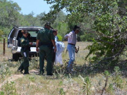 Brooks County Sheriff Benny Martinez responds to call about a deceased migrant near Falfurrias. (Photo: Bob Price/Breitbart Texas)