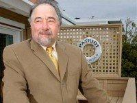 In this Dec. 3, 2007 file photo, radio talk show host Michael Savage poses with his dog Teddy in Tiburon, Calif. Savage won a legal battle Thursday Sept. 27, 2012 and announced he was leaving Talk Radio Network, which broadcast his show that attracted more than 8 million listeners a …