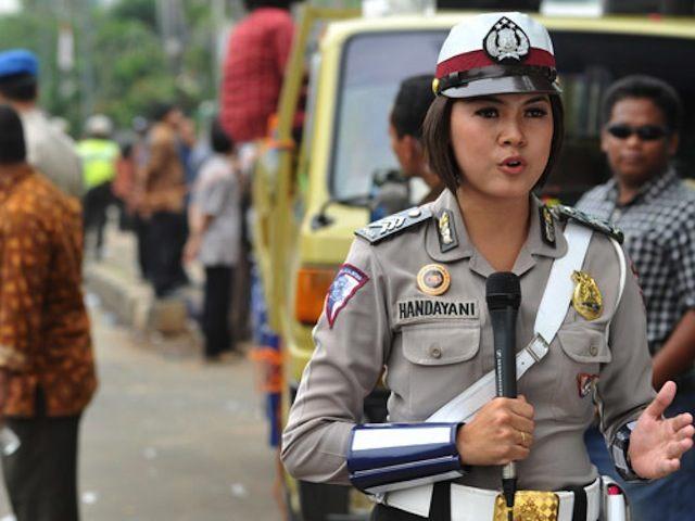 Indonesian female police officer
