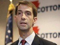 Tom Cotton in North Little Rock, AR on Aug. 21, 2014