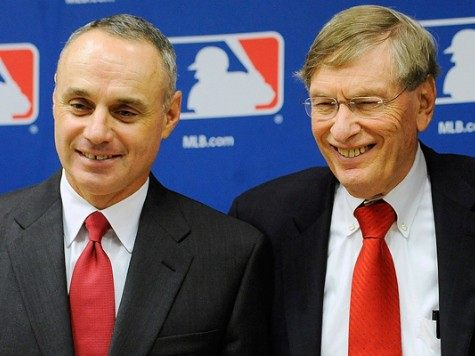 Rob Manfred and Bud Selig