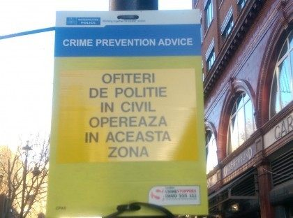 Romanian Sign In Covent Garden