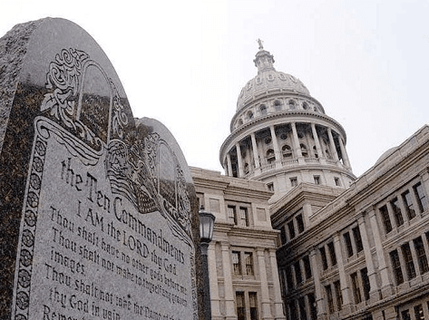 Ten Commandments Monument Texas Capitol