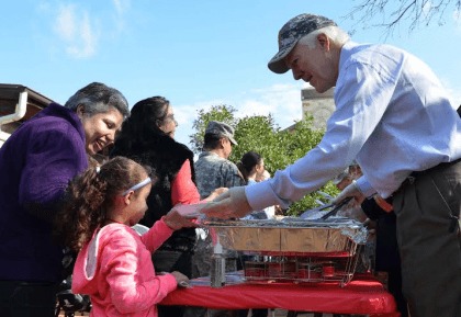 John Cornyn Feeding Others