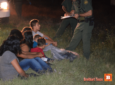 Illegal Immigrants Detained by Border Patrol