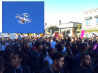 Drone at 'Black Lives Matter' protest in Los Angeles (Adelle Nazarian / Breitbart News)