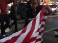Flag Burning in Hollywood (Screenshot / Cassandra / Vine)