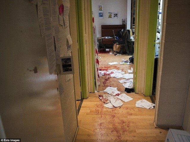 Charlie Hebdo offices inside