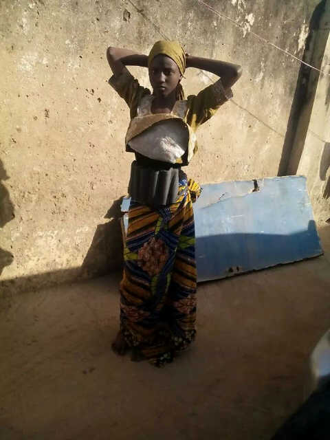 Photo purportedly showing female suicide bomber for Boko Haram.