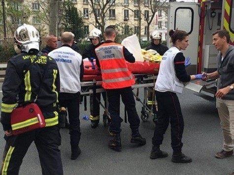 Victims put into ambulances. Credit: P Dupeyrat/AFP/Getty Images