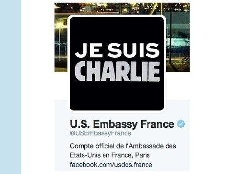The American Embassy in Paris joins in.