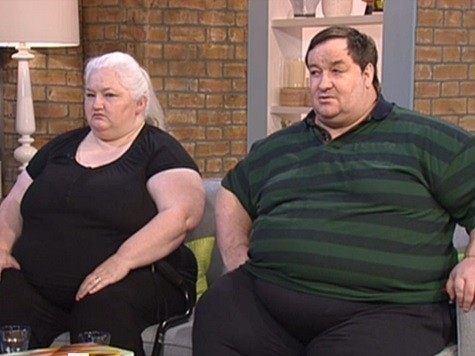 Stephen Beer and Michelle Coomb from Plymouth weigh 55 stone in total. They claim a total of £2k a month in benefits.