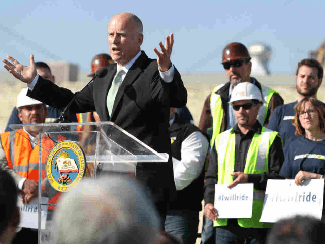 Brown at High-Speed Rail Groundbreaking (AP)