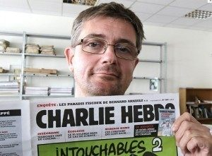 The Editor of Charlie Hebdo, known as Charb. Credit: AP