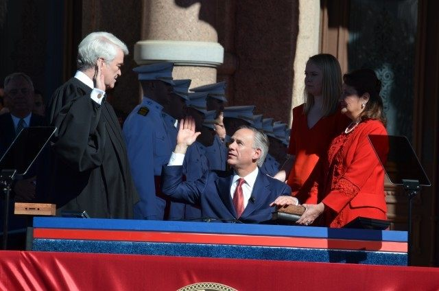 Greg Abbott is sworn in as the 48th Governor of Texas