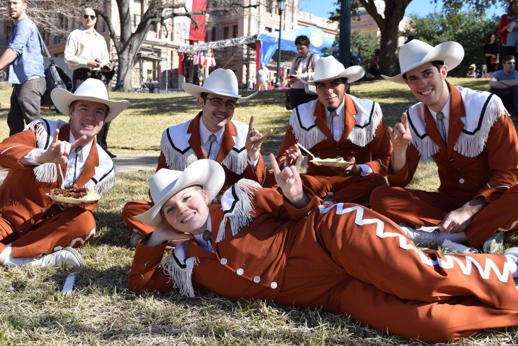 Texas Longhorn Band members - Photo by Lana Shadwick