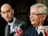 David Stern and Adam Silver Photo by Kathy Willens