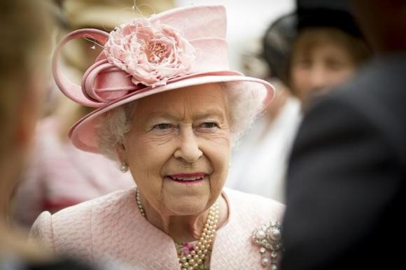 Britain's Queen Elizabeth is pictured during a garden party at Hillsborough Castle