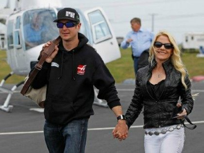 Kurt Busch and Patricia Driscoll AP