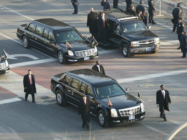 File photo of the presidential limo in Washington D.C.