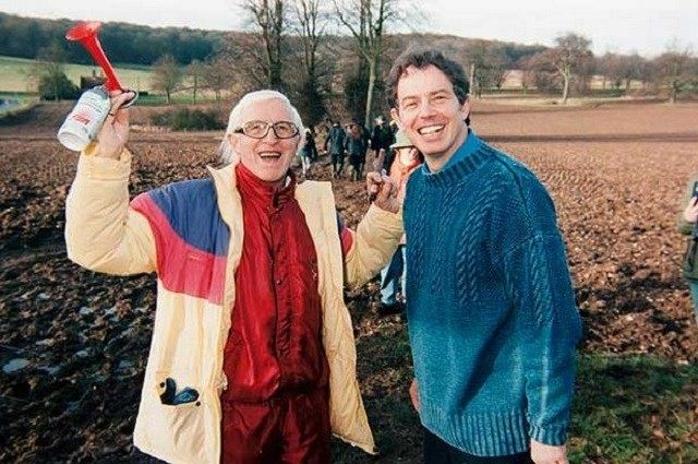 Paedophile 'Jimmy' Saville with former Prime Minister Tony Blair