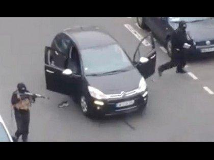 Gunmen at car