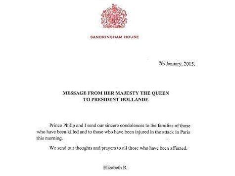 Queen Condolences