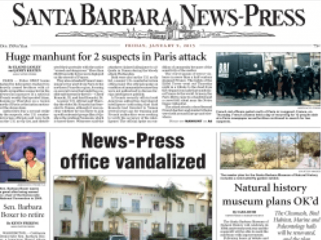 Santa Barbara News-Press (Front Page)