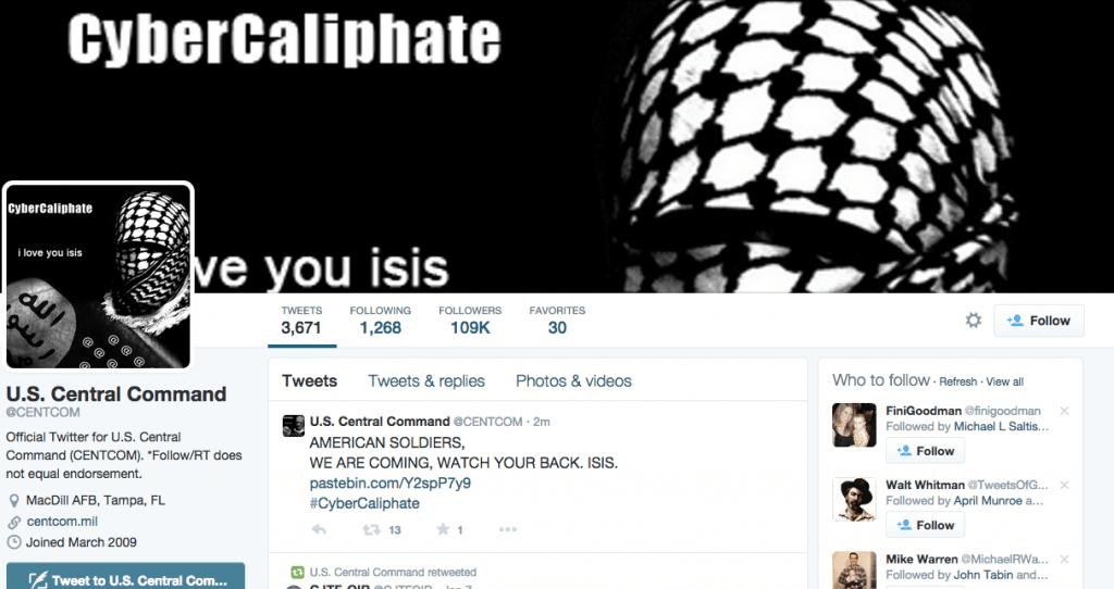 Cyber Caliphate hacks US CENTCOM Twitter