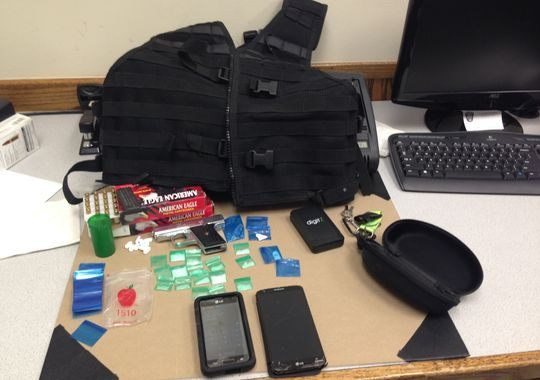 Items found by Montgomery County Deputies. Precinct 4 Constable's Photo.