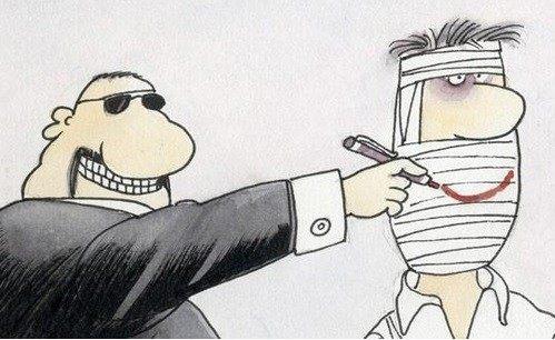 Artist Ali Farzat explains how free speech works in Syria. Credit: Ali Farzat
