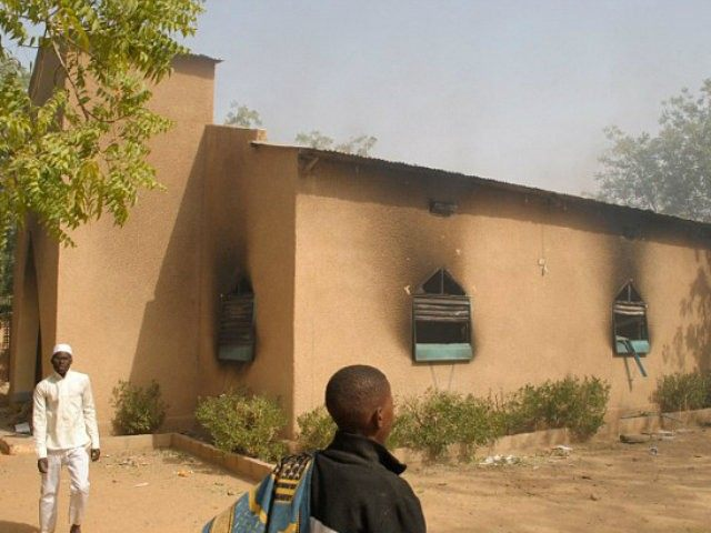 A burnt out church in Zinder, Niger (AFP/Getty)