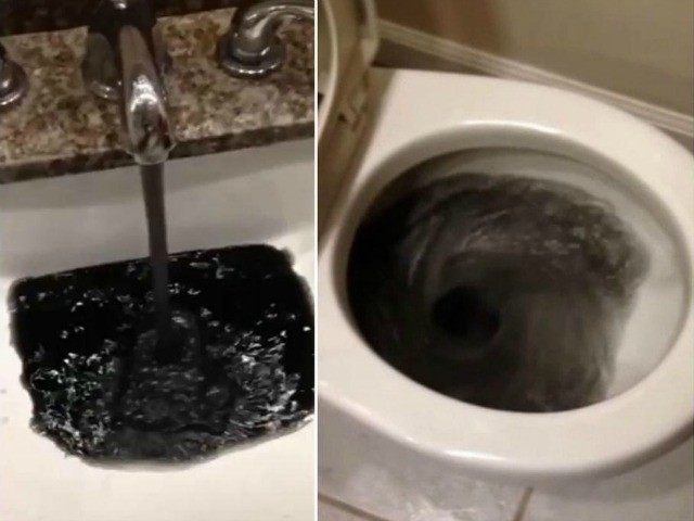 Water Is Black Color And Stinks