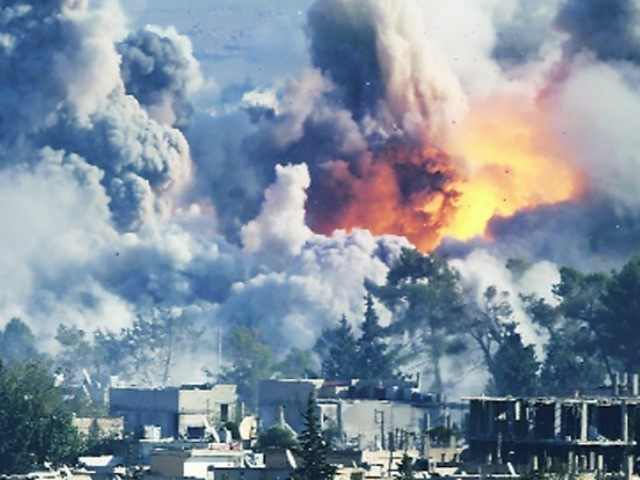 Led coalition airstrikes in eastern Syrian town kill 35