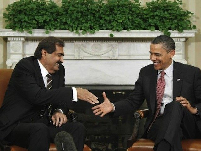 Emir of Qatar meets President Obama