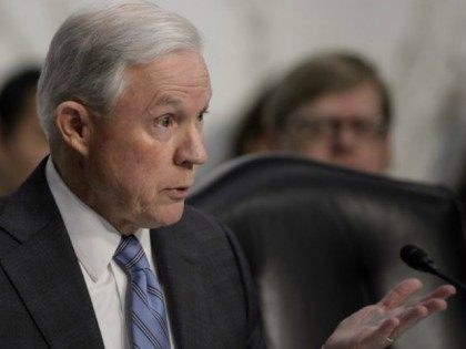 Senator Jeff Sessions (R-AL) grilled attorney general nominee Loretta Lynch on immigration during her confirmation hearing before the Senate Judiciary Committee January 28, 2015 in Washington, DC.