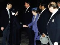 Robert Smith (far left) presenting a Ceremonial Line of Honor to the Late Queen Elizabeth, The Queen Mother.