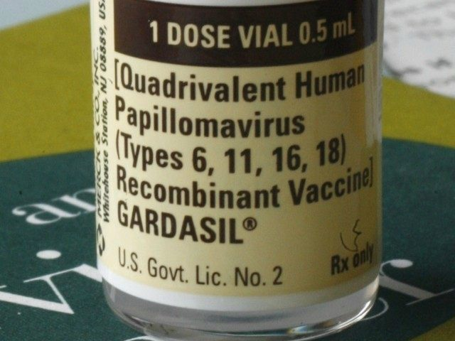One dose of the vaccine Gardasil, developed by Merck & Co.
