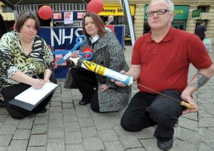 Andrew Palmer with Cllr Johnson and Lisa Forbes