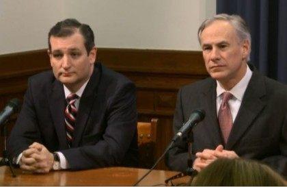 Cruz and Abbott at press conf