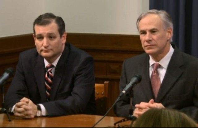 Cruz and Abbott at press conf