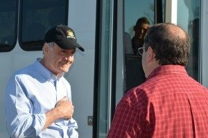 Senator Tom Carper and Breitbart Texas Reporter Bob Price
