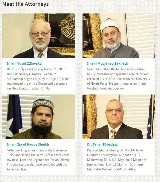 Islamic Tribunal Home Page - Bottom - Meet the Attorneys