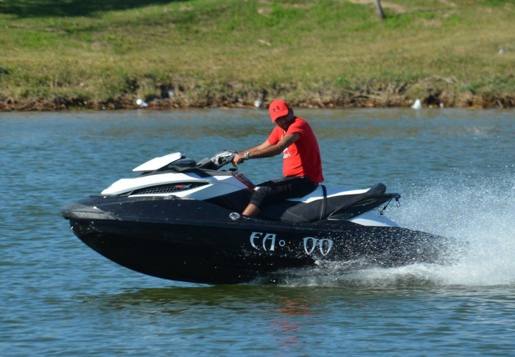 Jet Ski operator back in action at Anzalduas Park. Breitbart Texas Photo by Lana Shadwick.