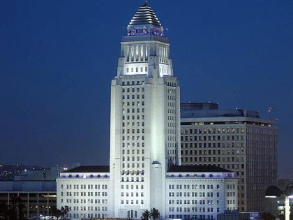 LA City Hall (Michael J. Fromholtz / Wikimedia Commons)