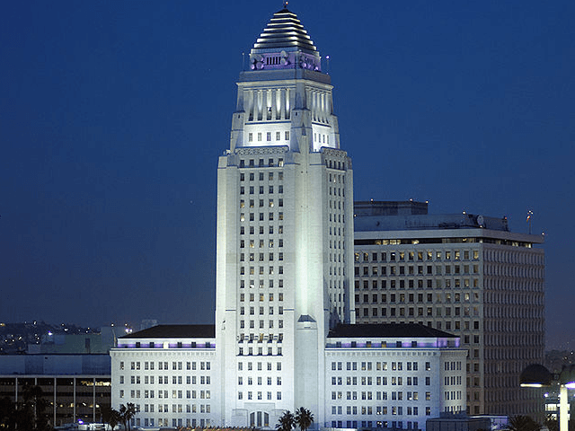 LA City Hall (Michael J. Fromholtz / Wikimedia Commons)