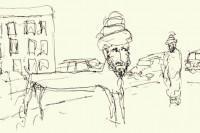 Lars Vilks' cartoon depicts Mohammed as a dog.