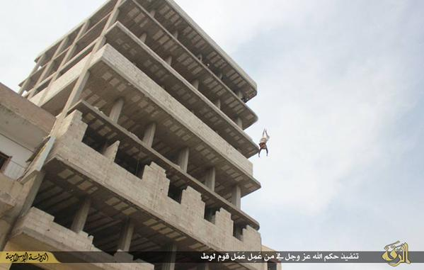 ISIS Throws Accused Gay Man from Roof–but When He Survives, Town