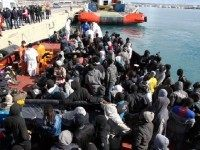 Migrants Italy Boat AP