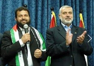 Mohamed Ali Harrath with Hamas Leader Ismail Haniyeh.